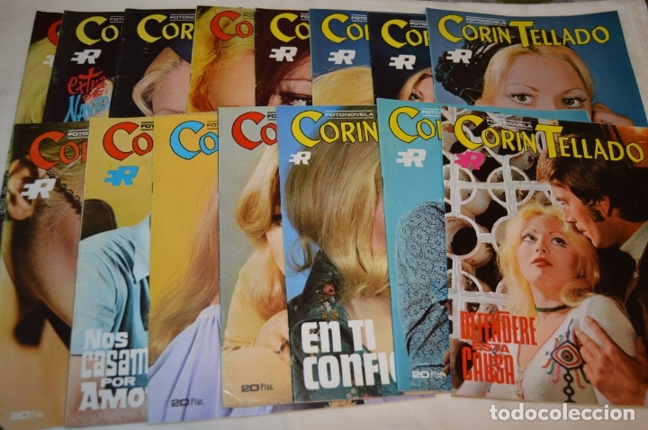 LOTE 15 REVISTAS FOTONOVELAS - CORÍN TELLADO - INCLUYE UN EXTRA - MUY BUEN ESTADO - ¡MIRA! (Coleccionismo - Revistas y Periódicos Modernos (a partir de 1.940) - Otros)