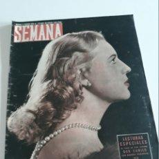 Coleccionismo de Revistas y Periódicos: MADRID - LOTE DE 46 REVISTAS SEMANA 1953 - AÑO XIV - PRECIO : 5,00 PTAS. - REVISTAS SUELTAS A 5€.. Lote 173123478