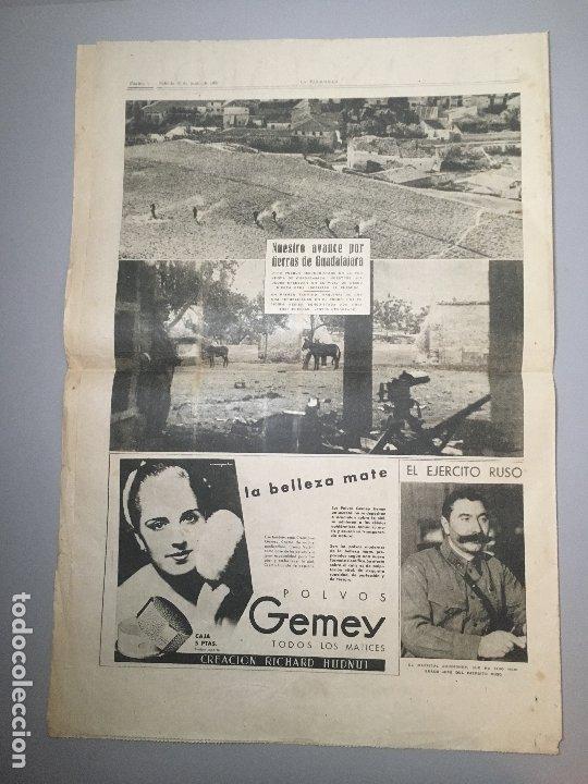 Coleccionismo de Revistas y Periódicos: Diario La Vanguardia Barcelona, Sabado 12 Junio 1937, En La Cuesta De Las Perdices - Foto 3 - 173166950