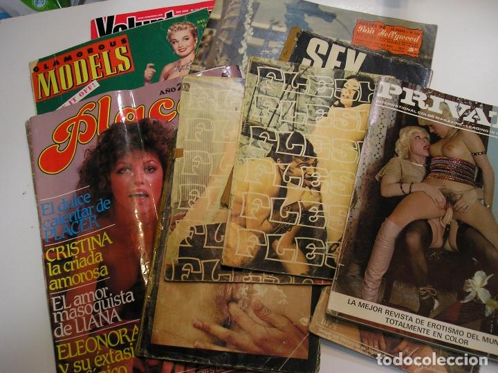 LOTE DE REVISTAS PORNO EROTICAS PORNOGRAFICAS AÑOS 60 - 70 -90 VER FOTOS (Coleccionismo - Revistas y Periódicos Modernos (a partir de 1.940) - Otros)