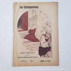 Coleccionismo de Revistas y Periódicos: SOR VIRGINIA, GONZALO MORENAS DE TEJADA, COLEC. LITERARIA LOS CONTEMPORÁNEOS Nº 363, 10-12-1915. Lote 173388010