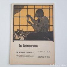 Coleccionismo de Revistas y Periódicos: UN HOMBRE TERRIBLE, EMILIO CARRERE, COLEC. LITERARIA LOS CONTEMPORÁNEOS, Nº 326, 26-03-1915. Lote 173398398