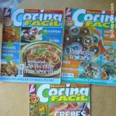 Coleccionismo de Revistas y Periódicos: LOTE 3 REVISTAS COCINA FACIL NOS. 51 - 60 - 63. Lote 173503394