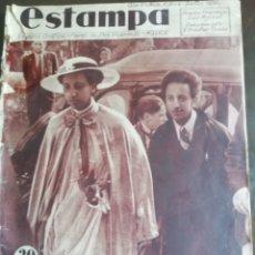 Coleccionismo de Revistas y Periódicos: REVISTA ESTAMPA 1936 ROMERAS VIRGEN DE JUVENCOS-CHARO LEONIS-NIÑOS LAS ROZAS. Lote 173514470