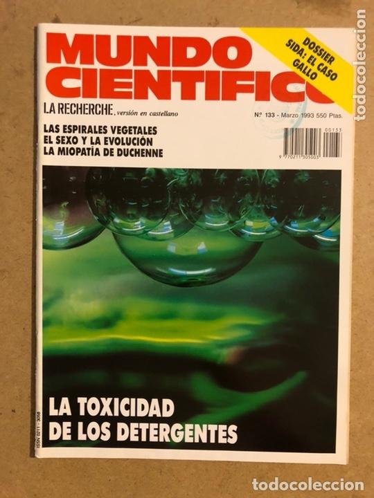 MUNDO CIENTÍFICO N° 133 (MARZO 1993). DOSSIER SIDA: EL CASO GALLO, ESPIRALES VEGETALES,... (Coleccionismo - Revistas y Periódicos Modernos (a partir de 1.940) - Otros)