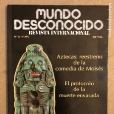 Coleccionismo de Revistas y Periódicos: MUNDO DESCONOCIDO N° 72 (1982). AZTECAS, MISTERIO EN EL CAÑÓN DEL RÍO LOBOS,.... Lote 246475230