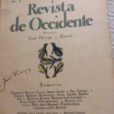 Coleccionismo de Revistas y Periódicos: REVISTA DE OCCIDENTE 1927.FEDERICO GARCÍA LORCA. Lote 173820589