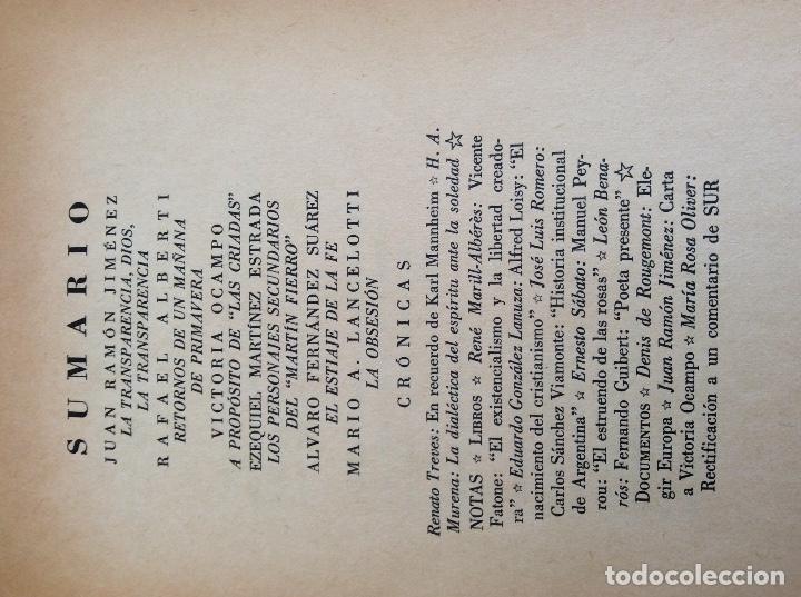Coleccionismo de Revistas y Periódicos: Revista Sur 1948 - Foto 2 - 173845747
