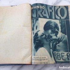 Coleccionismo de Revistas y Periódicos: TOMO CON REVISTAS DE MUNDO GRÁFICO 1933. Lote 173851532