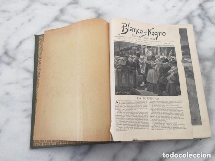 Coleccionismo de Revistas y Periódicos: Tomo con Revistas BLANCO Y NEGRO Año 1907 - Foto 5 - 173852422