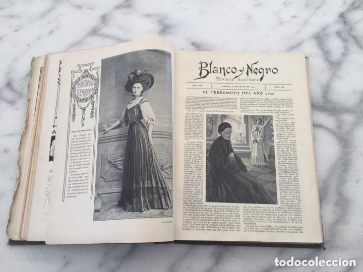 Coleccionismo de Revistas y Periódicos: Tomo con Revistas BLANCO Y NEGRO Año 1907 - Foto 7 - 173852422