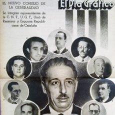 Coleccionismo de Revistas y Periódicos: EL DIARIO GRAFICO 1936 EL NUEVO CONSEJO DE LA GENERALITA C.N.T.-UG.T. ESQUERRA. Lote 173891650