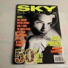 Coleccionismo de Revistas y Periódicos: SKY MAGAZINE OCTOBER 1990, MEL GIBSON, RIVER PHOENIX - EDICION EN INGLES. Lote 173923388