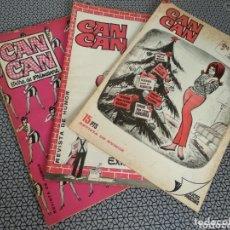 Coleccionismo de Revistas y Periódicos: LOTE 3 REVISTAS CAN CAN EXTRA 1966. Lote 174013422