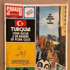 Coleccionismo de Revistas y Periódicos: SÁBADO GRÁFICO N° 717 (FEBRERO 1971). LOS CARNAVALES DE CANARIAS, TURQUÍA AL BORDE GUERRA CIVIL,... Lote 174047624