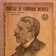 Coleccionismo de Revistas y Periódicos: REVISTA LITERARIA NOVELAS Y CUENTOS N° 247 (1933). CARTAS DE FABRIQUE MENDES. EÇA DE QUEIROZ.. Lote 174047820