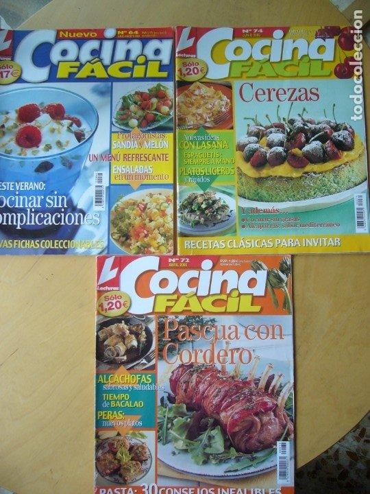 LOTE 3 REVISTAS COCINA FÁCIL NOS. 64, 72, 74 (Coleccionismo - Revistas y Periódicos Modernos (a partir de 1.940) - Otros)