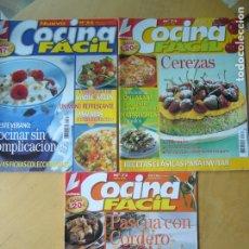Coleccionismo de Revistas y Periódicos: LOTE 3 REVISTAS COCINA FÁCIL NOS. 64, 72, 74. Lote 174063343
