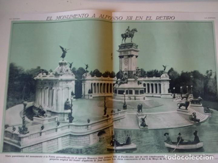 Coleccionismo de Revistas y Periódicos: REPORTAJE REVISTA ORIGINAL 1914. EL MONUMENTO A ALFONSO XII, EL RETIRO, JOSE GRASES, ESCULTURAS - Foto 2 - 174064328