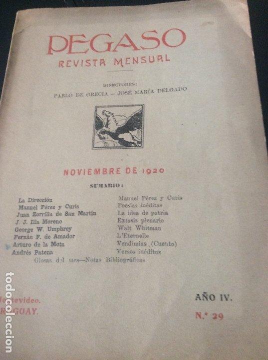 1920 REVISTA PEGASO (Coleccionismo - Revistas y Periódicos Antiguos (hasta 1.939))