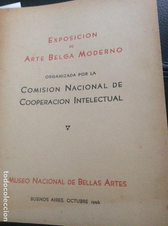 1949 EXPOSICIÓN DE ARTE BELGA .BUENOS AIRES (Coleccionismo - Revistas y Periódicos Antiguos (hasta 1.939))