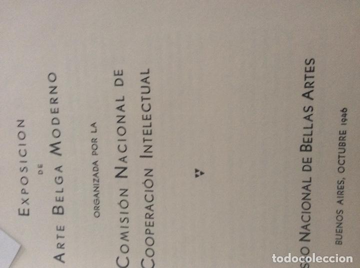 Coleccionismo de Revistas y Periódicos: 1949 Exposición de Arte Belga .Buenos aires - Foto 3 - 174071533