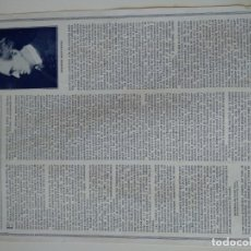 Coleccionismo de Revistas y Periódicos: HOJA REVISTA ORIGINAL CIRCA 1915. FIGURAS TEATRO ALEMAN, GERARDO HAUPTMANN. Lote 174073067