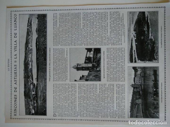HOJA REVISTA ORIGINAL CIRCA 1915. RINCONES DE ASTURIAS, LA VILLA DE LUANCO (Coleccionismo - Revistas y Periódicos Antiguos (hasta 1.939))