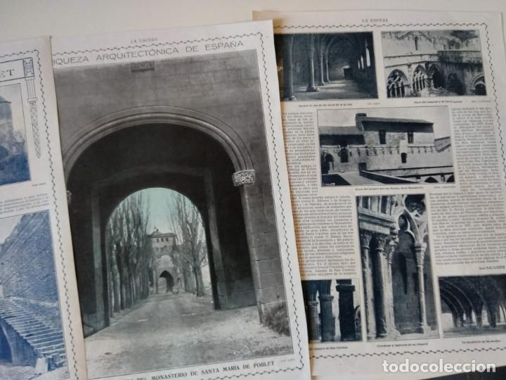 Coleccionismo de Revistas y Periódicos: REPORTAJE REVISTA ORIGINAL CIRCA 1915. MONASTERIO DE POBLET, POR JUAN BALAGUER - Foto 2 - 174073498