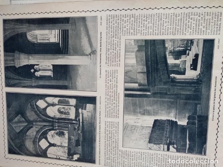 Coleccionismo de Revistas y Periódicos: REPORTAJE REVISTA ORIGINAL CIRCA 1915. MONASTERIO DE POBLET, POR JUAN BALAGUER - Foto 3 - 174073498