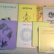 Coleccionismo de Revistas y Periódicos: LOTE REVISTAS DE POESÍA. CARACOLA, ARTESA, ORTO, VERDE-BLANCO.... Lote 174109649