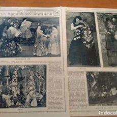 Coleccionismo de Revistas y Periódicos: REPORTAJE REVISTA ORIGINAL 1915. LA EXPOSICION ANGLADA CAMARASA. Lote 174152404