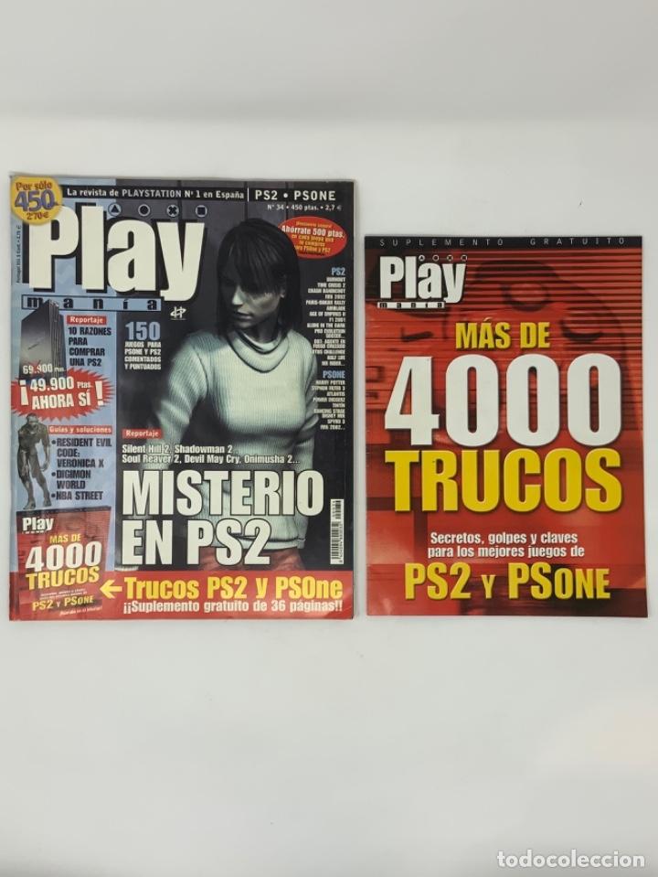 PLAY MANIA Nº 34 COMPLETO Y CON SUPLEMENTO 4000 TRUCOS. (Coleccionismo - Revistas y Periódicos Modernos (a partir de 1.940) - Otros)