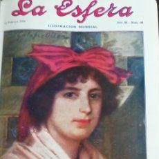 Coleccionismo de Revistas y Periódicos: LA ESFERA 1916 CAPILLA REAL GRANADA-ASTURIAS PINTORESCA : LLANES - FABRICA DE LAMPARAS. Lote 174233750
