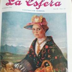 Coleccionismo de Revistas y Periódicos: LA ESFERA 1916 MUCHACHA SEGOVIANA- PESCA SARDINA PUERTO CHICO SANTANDER -CASTILLO SIGUENZA-REINOSA. Lote 174237539