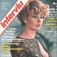 Coleccionismo de Revistas y Periódicos: INTERVIU VOLUMEN 0095: EDWIGE FENECH, LA PIEL DE PURPURINA. Lote 174238337
