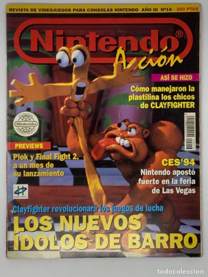 NINTENDO ACCIÓN Nº16 (Coleccionismo - Revistas y Periódicos Modernos (a partir de 1.940) - Otros)