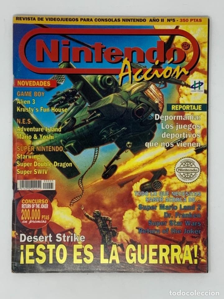 NINTENDO ACCIÓN Nº 5 (Coleccionismo - Revistas y Periódicos Modernos (a partir de 1.940) - Otros)