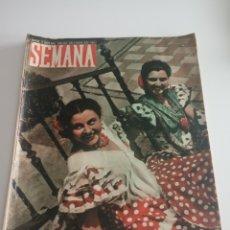 Coleccionismo de Revistas y Periódicos: REVISTA SEMANA Nº 482 - 17 DE MAYO DE 1949. Lote 174250588