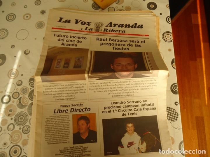 LA VOZ DE ARANDA Y LA RIBERA, 11-7-2008 (Coleccionismo - Revistas y Periódicos Modernos (a partir de 1.940) - Otros)