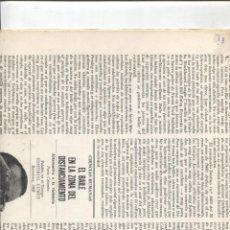 Collectionnisme de Revues et Journaux: DIARIO LITERATURA EDICIONS 62/LUMEN/SEIX BARRAL: EL RIO DE JULIO CORTAZAR. Lote 174296962