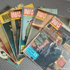 Coleccionismo de Revistas y Periódicos: LOTE 8 REVISTAS ONDAS 1964. Lote 174403219