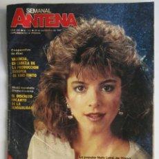 Coleccionismo de Revistas y Periódicos: REVISTA ANTENA SEMANAL SEPTIEMBRE 1987 VALENCIA VINO TINTO. Lote 174421088