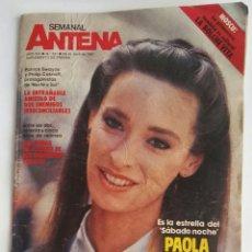 Coleccionismo de Revistas y Periódicos: SEMANAL ANTENA ABRIL 1987 PAOLA DOMINGUIN. Lote 174421350