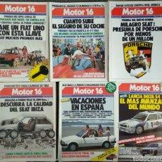 Coleccionismo de Revistas y Periódicos: LOTE 49 REVISTAS MOTOR 16 AÑO 1984. Lote 174422838