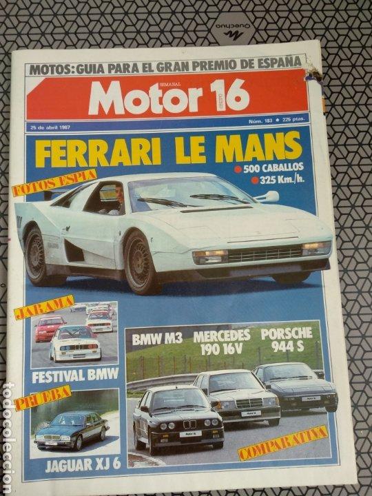 Coleccionismo de Revistas y Periódicos: Lote 25 revistas Motor 16 año 1987 - Foto 4 - 174423218