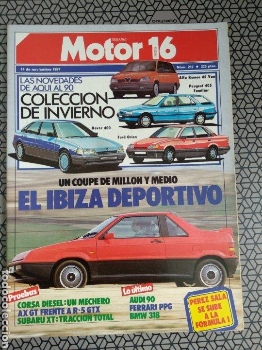 Coleccionismo de Revistas y Periódicos: Lote 25 revistas Motor 16 año 1987 - Foto 9 - 174423218