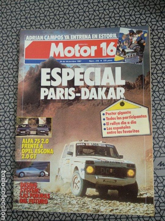 Coleccionismo de Revistas y Periódicos: Lote 25 revistas Motor 16 año 1987 - Foto 12 - 174423218
