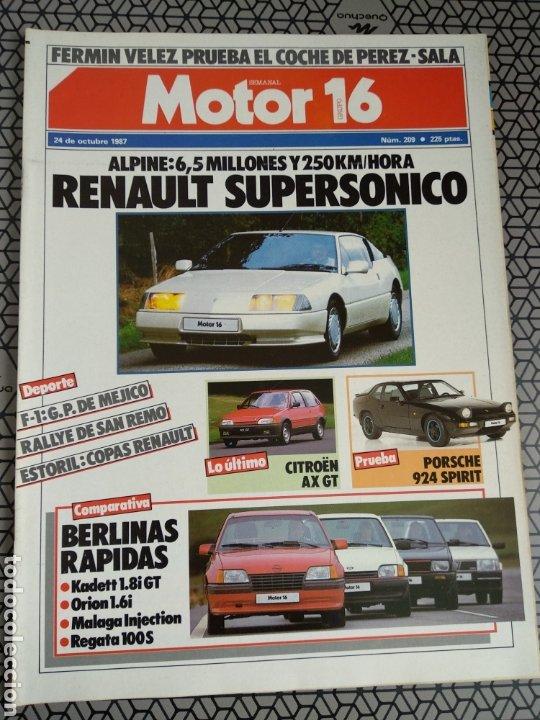 Coleccionismo de Revistas y Periódicos: Lote 25 revistas Motor 16 año 1987 - Foto 14 - 174423218