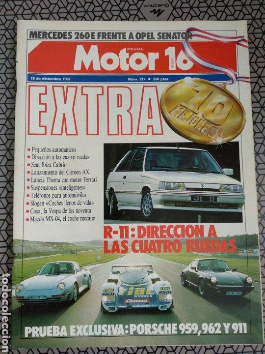 Coleccionismo de Revistas y Periódicos: Lote 25 revistas Motor 16 año 1987 - Foto 17 - 174423218